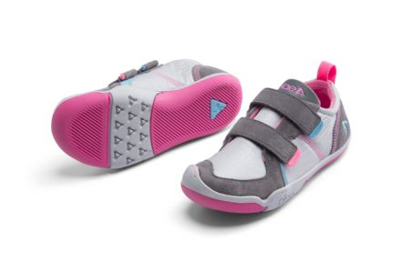 Plae TY Velcro Trainers (Silver/Pink)